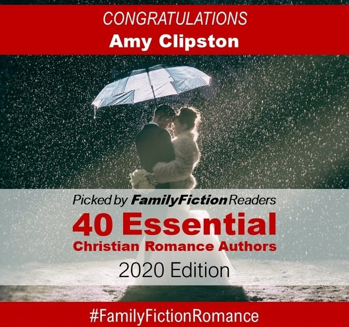 Amy named an essential Christian Romance Author by Family Fiction 2 years in a row!